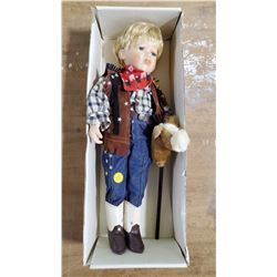 Cowboy Porcelain Doll     Charlene's Collection Cowboy Doll