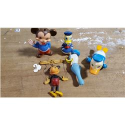 Vintage Mickey Mouse & Donald Duck Toys  1960's to 1970's