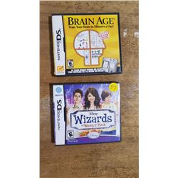 2 Nintendo DS Games Wizards & Brain Age