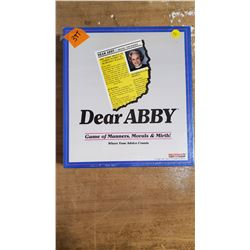 Vintage Dear Abby Boardgame Sealed 1992 Dear Abby Game of Manner, Morals & Myths