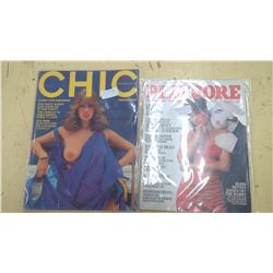 1983 PLAYBORE (PARODY) AND 1976 CHIC 1ST ISSUE