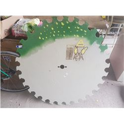 "painted 42"" antique saw blade"