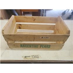 wooden argentina pear box