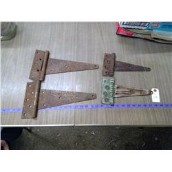 2 SETS OF OLD GATE HINGES
