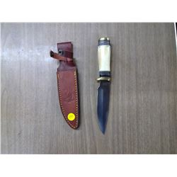 HUNTING KNIFE WITH LEATHER CASE