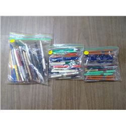 LARGE ASSORTMENT OF ADV. BALL POINT PENS