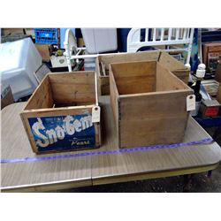2 WOODEN APPLE BOXES