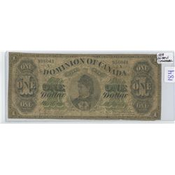 1878 ONE DOLLAR BILL, MONTREAL