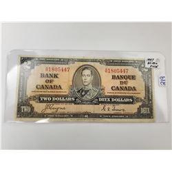 1937 TWO DOLLAR BILL