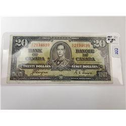 1937 TWENTY DOLLAR BILL