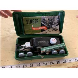 1948 Singer Buttonholer with Instructions, Case, and Accessories
