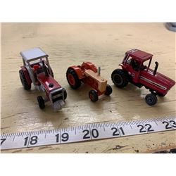 3 Small Toy Tractors