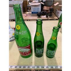 3 Vintage High N' Dry Pop Bottles - 7,10,30 oz