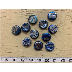 11 Different Vintage Labatt's Blue Beer Bottle Caps