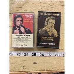 2 Vintage Johnny Cash Cassette Tapes (Boy Named Sue + The Classic Series Golden Johnny Cash)