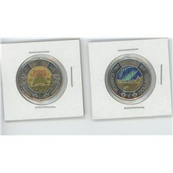 1867-2017 Canada Glow in the Dark Toonie, and 2018 D-Day Coloured Toonie