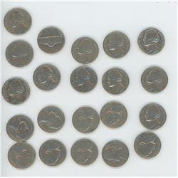 21 US 5 Cent 1960's-1971