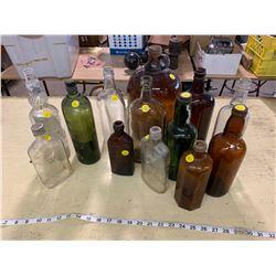 3 Vintage Glass Bottles