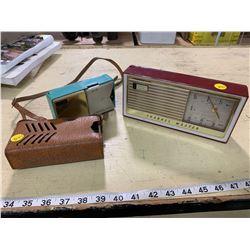 Super Fringe Transistor Radio (Working), Realtone Transistor Radio with Case (Not Working)