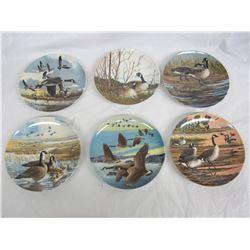 Set of 6 plates Donald Pentz 1986 -1987 mint with boxes