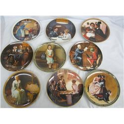 8 Norman Rockwell plates mint with boxes
