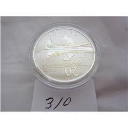 Canadian 2011 Silver 20 Dollar Canoe Coin
