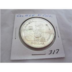 1958 Canadian Silver Dollar