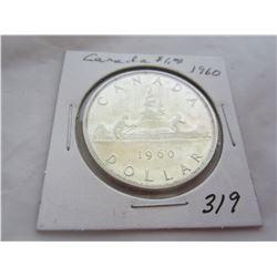 1960 Canadian Silver Dollar