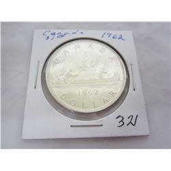 1962 Canadian Silver Dollar
