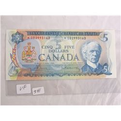 1972 Five Dollar Replacement Note