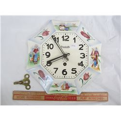 Plate Clock and Key