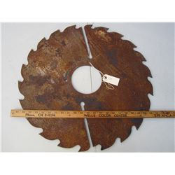 Antique Saw Blade 23 inches across