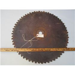Antique Saw Blade 22 inches across