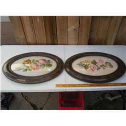Matching Pair of Convex Glass Picture Frames