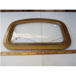 Gold colored Convex Glass Picture Frame