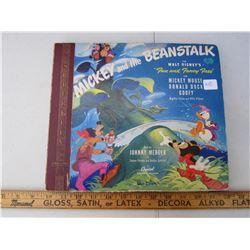 Mickey and the Beanstalk 78 record set
