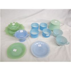 Lot of 12 pieces of Fire King , Pyrex ect