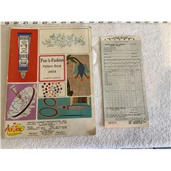 Vintage Artex pattern book #654 and order form