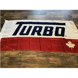"Turbo Resources flag, 70""x36"""