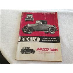 "1966 printing of Model ""A"" parts & accessories catalog"