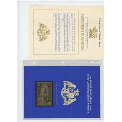 Commonwealth of Dominica 23-karat gold $16 postage stamp that commemorates the 75th Anniversary of P