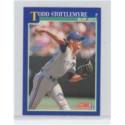 Todd Stottlemyre, Pitcher, Toronto Blue Jays Score 1991 MLB Baseball Card. Gem Unc.