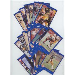 Lot of 22 Edmonton Eskimos 1991 Jogo CFL Football Cards. Includes Tracy Ham, Randy Ambrosie, Ron Lan