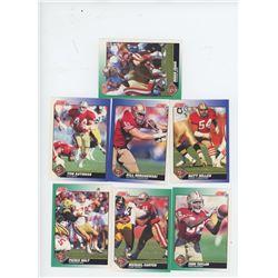 Lot of 7 San Francisco Forty-Niners 1991 Score NFL Football Cards including Roger Craig, Matt Millen