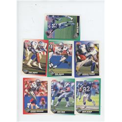 Lot of 7 Seattle Seahawks 1991 Score NFL Football Cards including Brian Blades and Derrick Fenner. A