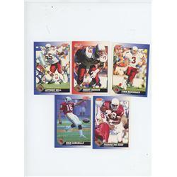 Lot of 5 Arizona Cardinals 1991 Score NFL Football Cards including Timm Rosenbach and Johnny Johnson
