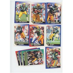 Lot of 10 Green Bay Packers 1991 Score NFL Football Cards including Sterling Sharpe, Keith Woodside