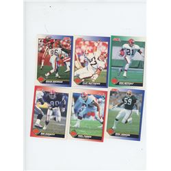 Lot of 6 Cleveland Browns 1991 Score NFL Football Cards including Eric Metcalf and Clay Matthews. Al