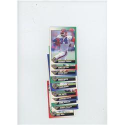 Lot of 10 Buffalo Bills 1991 Score NFL Football Cards including Thurman Thomas, James Lofton, Andre