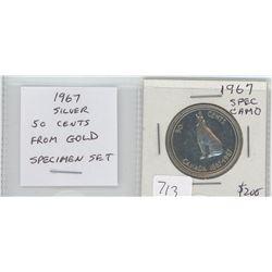 1967 Specimen silver 50 cents from a Gold Specimen Set. Cameo. nice.